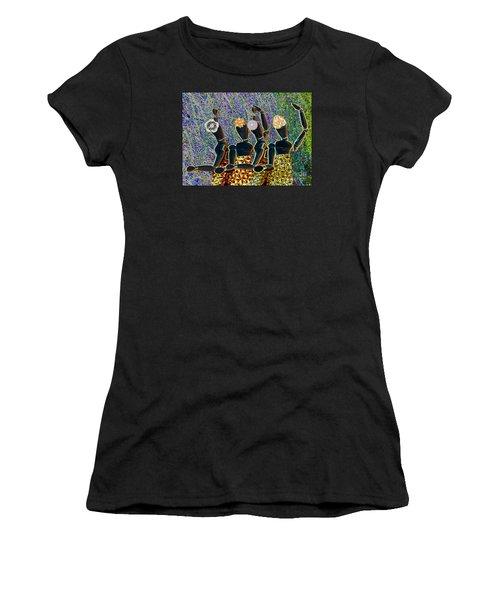 Women's T-Shirt (Junior Cut) featuring the photograph Dance Party by Nareeta Martin