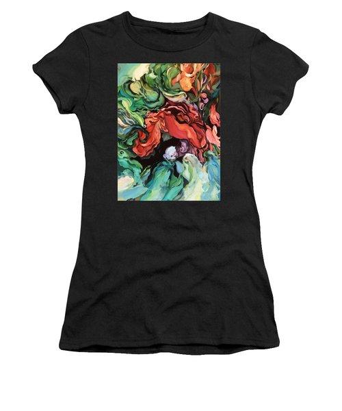 Dancing For Joy - Original Artwork - Paintings Women's T-Shirt (Athletic Fit)