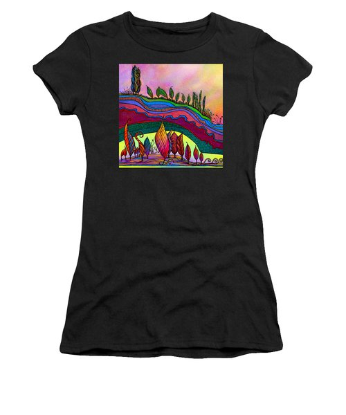 Dancing In The Sunshine Women's T-Shirt (Athletic Fit)