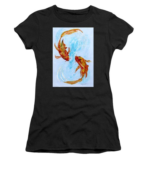 Dancing Koi Sold Women's T-Shirt (Athletic Fit)