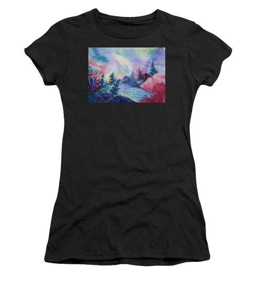 Dancing Lights II Women's T-Shirt (Athletic Fit)