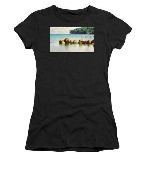 Danish Coast On The Rocks Women's T-Shirt