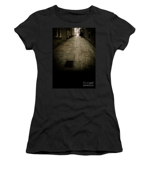 Dark Alley In Old Historic City Women's T-Shirt