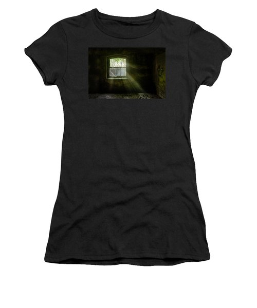 Darkness Revealed - Basement Room Of An Abandoned Asylum Women's T-Shirt
