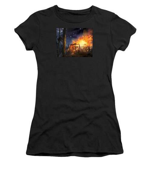 Darth Vader's Funeral Pyre Women's T-Shirt (Athletic Fit)