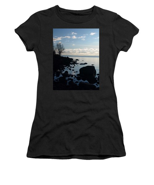 Women's T-Shirt (Junior Cut) featuring the photograph Dawn At The Cove by James Peterson
