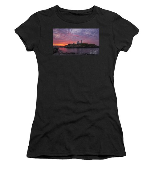Dawn At The Nubble Women's T-Shirt
