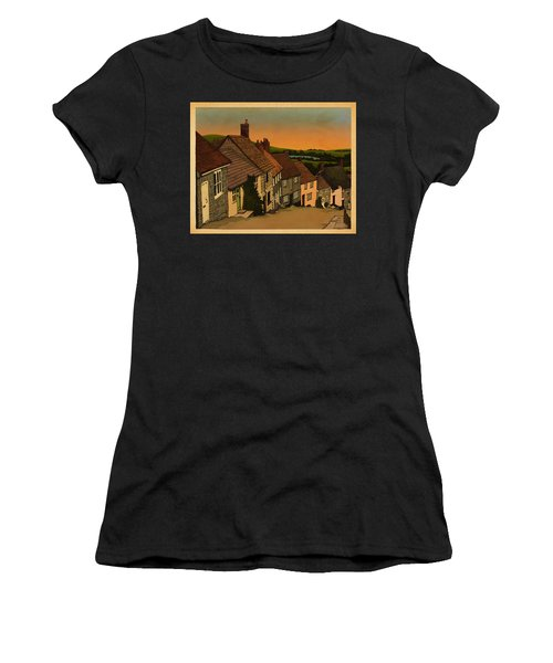 Women's T-Shirt (Junior Cut) featuring the drawing Daybreak by Meg Shearer