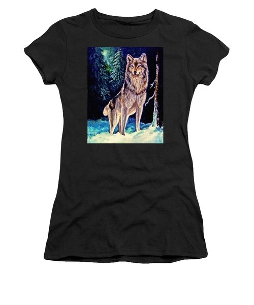 Women's T-Shirt (Junior Cut) featuring the painting Dawn Of A New Day Original Painting Forsale by  Nadine Johnston