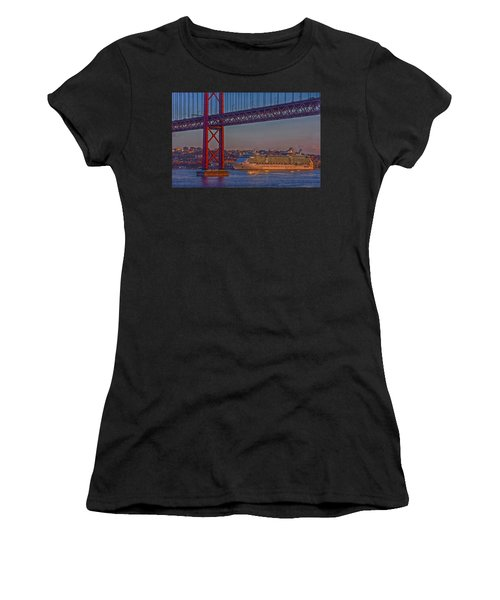 Dawn On The Harbor Women's T-Shirt (Athletic Fit)