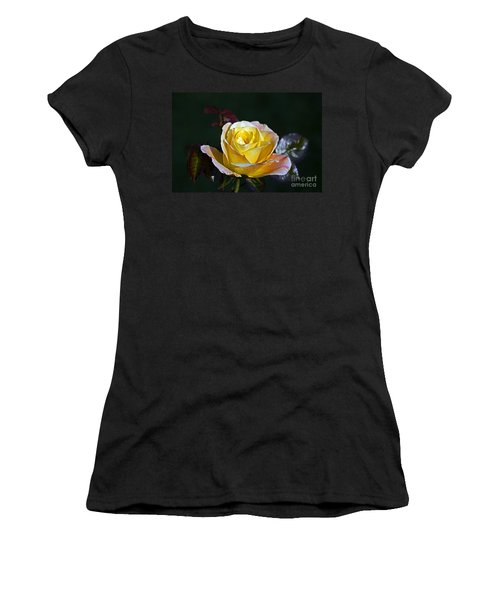 Women's T-Shirt (Junior Cut) featuring the photograph Day Breaker Rose by Kate Brown