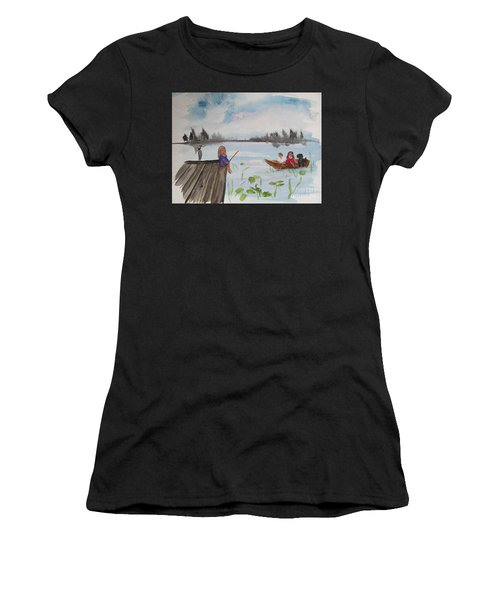Day Of Fishing Women's T-Shirt (Athletic Fit)