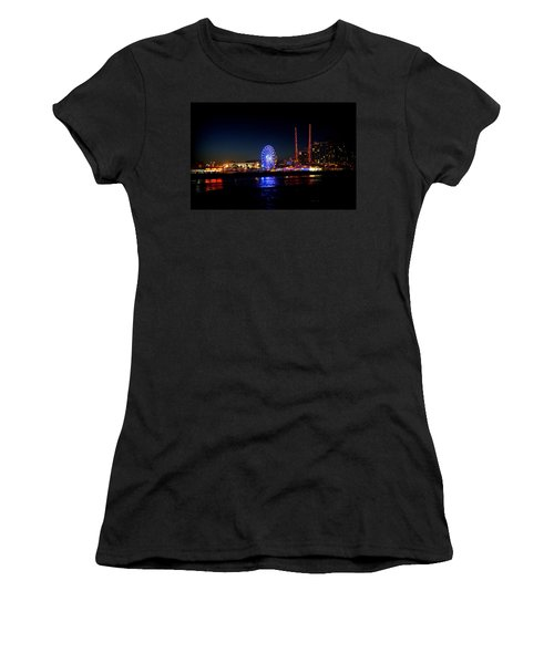 Women's T-Shirt (Junior Cut) featuring the photograph Daytona At Night by Laurie Perry