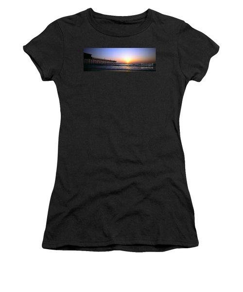 Daytona Sun Glow Pier  Women's T-Shirt (Athletic Fit)