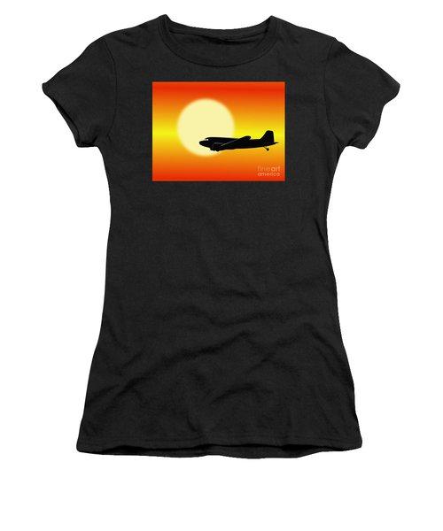Dc-3 Passing Sun Women's T-Shirt