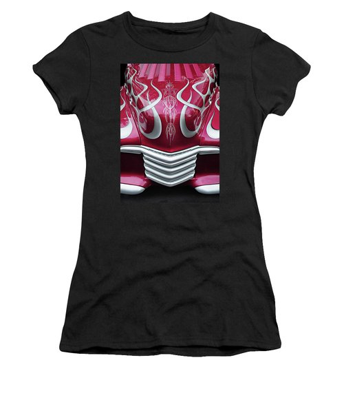 Women's T-Shirt (Junior Cut) featuring the photograph Decorative Chevrolet Hood by Dave Mills
