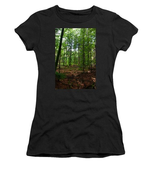 Deep Forest Trails Women's T-Shirt (Athletic Fit)