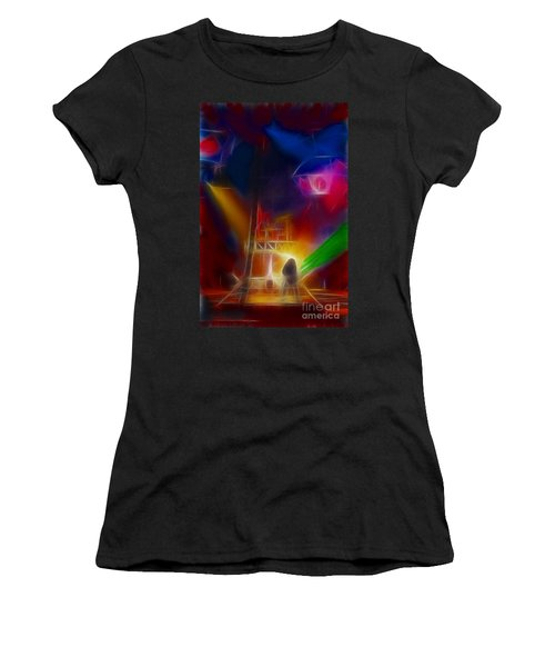 Def Leppard-adrenalize-gf10-fractal Women's T-Shirt (Junior Cut) by Gary Gingrich Galleries