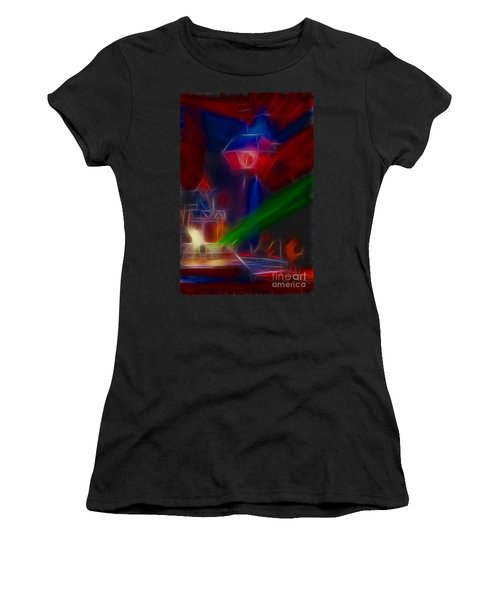 Def Leppard-adrenalize-gf12-fractal Women's T-Shirt (Junior Cut) by Gary Gingrich Galleries