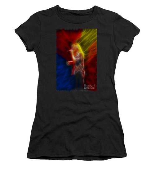 Def Leppard-adrenalize-joe-ga25-fractal Women's T-Shirt (Junior Cut) by Gary Gingrich Galleries