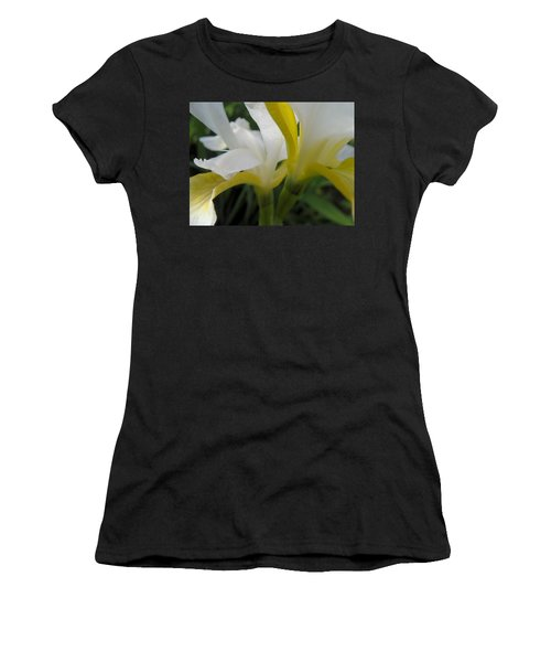 Women's T-Shirt (Junior Cut) featuring the photograph Delicate Iris by Cheryl Hoyle