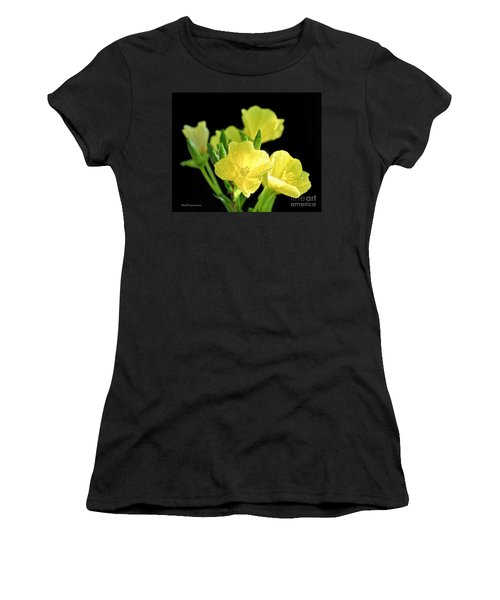 Delicate Yellow Wildflowers In The Sun Women's T-Shirt (Athletic Fit)