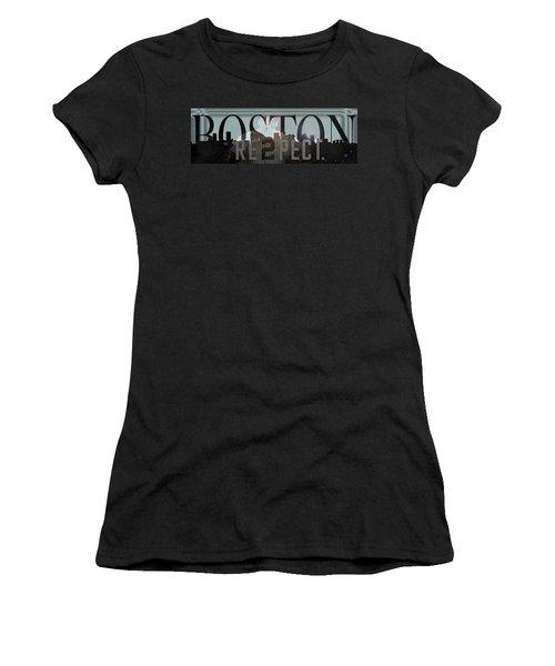 Derek Jeter - Boston Women's T-Shirt (Junior Cut) by Joann Vitali