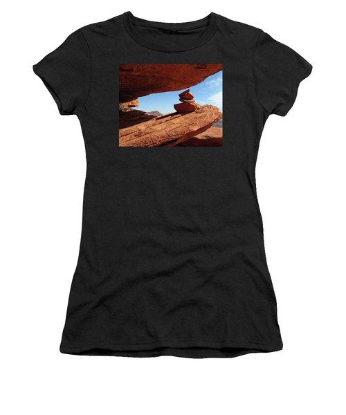 Women's T-Shirt (Junior Cut) featuring the photograph Desert Signpost by Alan Socolik