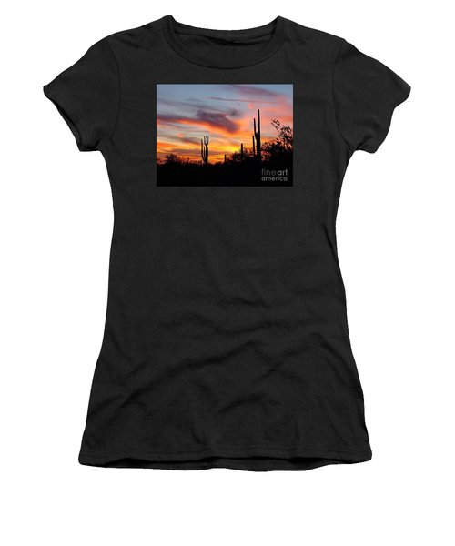 Desert Sunset Women's T-Shirt (Junior Cut) by Joseph Baril