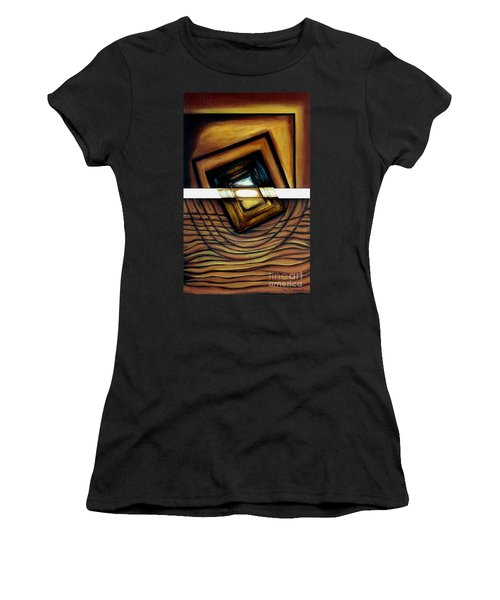 Women's T-Shirt (Junior Cut) featuring the painting Deversity View by Fei A