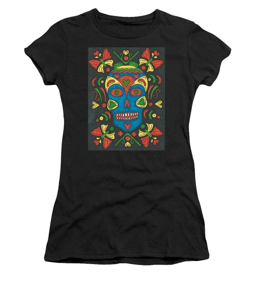 Women's T-Shirt (Junior Cut) featuring the painting Dia De Los Muertos by Susie Weber