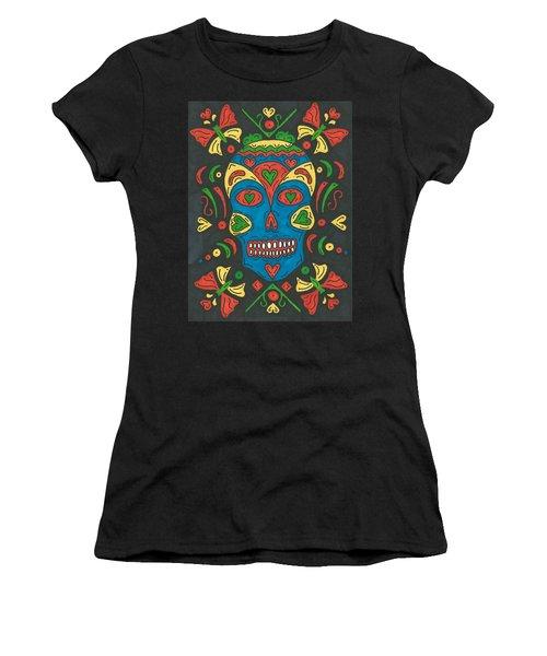 Dia De Los Muertos Women's T-Shirt (Junior Cut) by Susie Weber