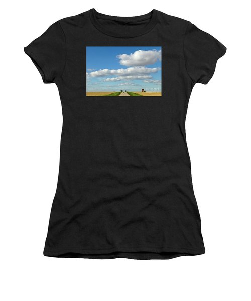 Dirt Road And Grain Elevator Williston Women's T-Shirt