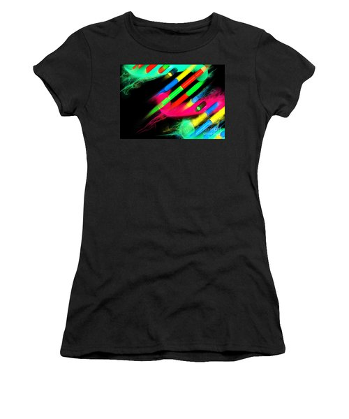 Women's T-Shirt (Athletic Fit) featuring the digital art Dna Dreaming 8 by Russell Kightley