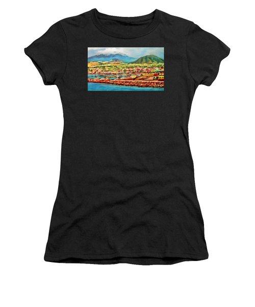 Docked In St. Kitts Women's T-Shirt