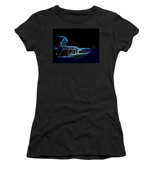 Dockside Moonlight Women's T-Shirt (Junior Cut) by William Horden