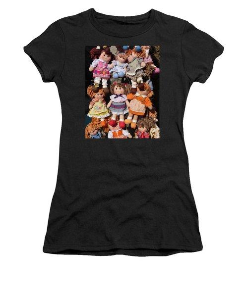 Women's T-Shirt (Junior Cut) featuring the photograph Dolls by Marcia Socolik