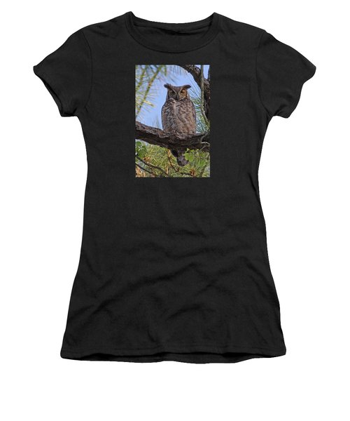 Women's T-Shirt (Junior Cut) featuring the photograph Don't Mess With My Chicks #2 by Paul Rebmann