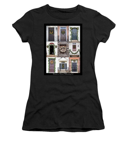Doors Of Williamsburg Collage Women's T-Shirt