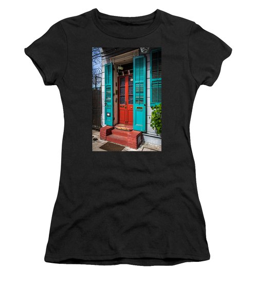 Double Red Door Women's T-Shirt (Athletic Fit)