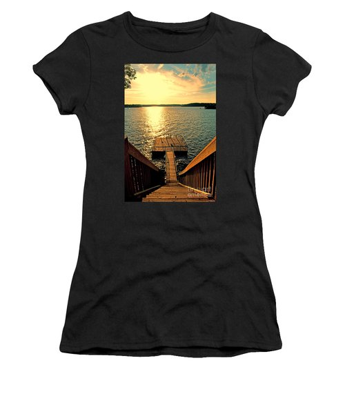 Down To The Fishing Dock - Lake Of The Ozarks Mo Women's T-Shirt (Athletic Fit)