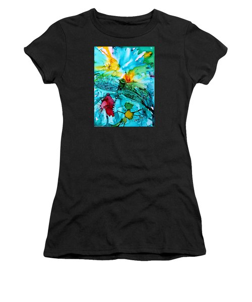 Dragonfly Blues Women's T-Shirt (Athletic Fit)