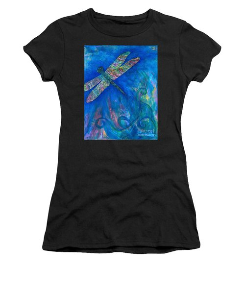 Dragonfly Flying High Women's T-Shirt (Athletic Fit)
