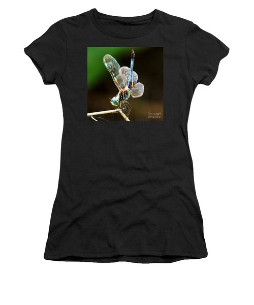Dragonfly Headstand Women's T-Shirt (Junior Cut) by Kim Pate