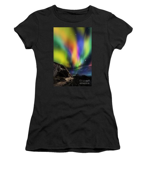 Dramatic Aurora Women's T-Shirt (Athletic Fit)