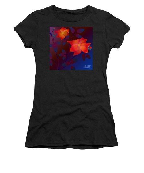 Dreaming Wild Roses Women's T-Shirt (Junior Cut) by Latha Gokuldas Panicker