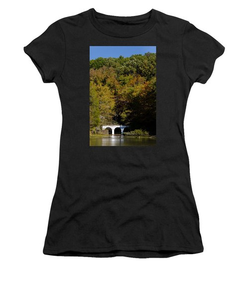 Dunbar Cave And Swan Lake Women's T-Shirt (Athletic Fit)