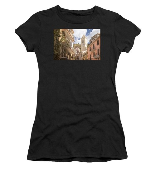 Duomo Bell Tower Of Manarola Women's T-Shirt