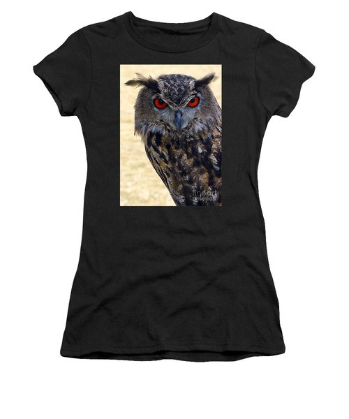 Eagle Owl Women's T-Shirt (Athletic Fit)