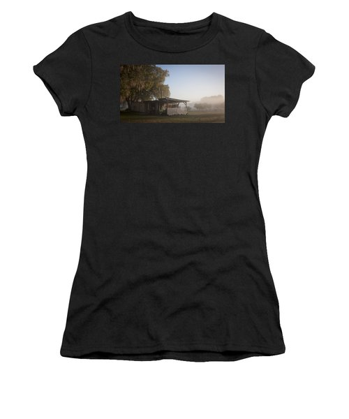 Women's T-Shirt (Junior Cut) featuring the photograph Early Morning On The Farm by Lynn Palmer